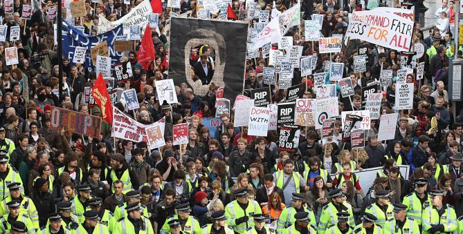 Students Protest Over The Rise In Tuition Fees