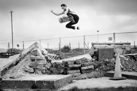 The skatepark while still under construction (Photo by Ben Hay)