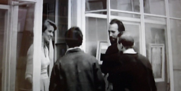 Bruce Taylor, third from left, in a still from the BBC's 'The Art of Cornwall'
