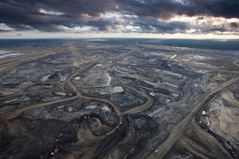 Syncrude Aurora Oil Sands Mine, north of Fort McMurray, Canada.
